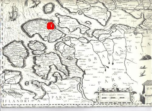 Bron: Kaart ca. 1620 getiteld MIDDELBURGUM