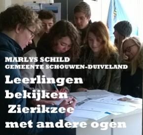 Leerlingen van Pontes middelbare school bekijken Zierikzee met andere ogen