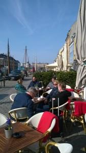 Koffie aan de oude haven
